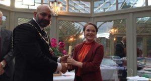 Rachel Armitage (2016 Scholar) and the Lord Mayor