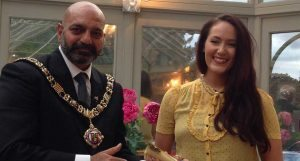 Sarah Marie Taylor (2016 Scholar) and the Lord Mayor